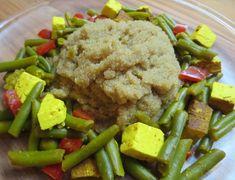 Fotorecept: Amarantové zlato s fazuľkami a tofu Tofu, Grains, Rice, Beef, Meat, Seeds, Laughter, Jim Rice, Korn