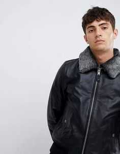 727a63eb9 Pin by Yoga Damara on Leather | Pinterest | Leather, Men sweater and ...