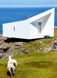 Unusual Architecture on Fogo Island, Newfoundland