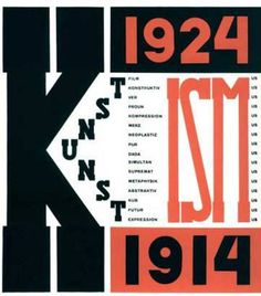 'The Isms of Art' book cover design (1924) by El Lissitzky.