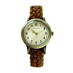 TokyoBay Braid watch - brown, stone