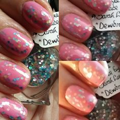 Dewdrop by Polish Me, Royalty! 5-toxin free, cruelty free, handmade pastel matte glitter topcoat nail polish by PolishMeRoyalty on Etsy
