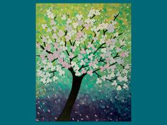 Chery blossom painting
