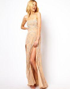 Needle & Thread   Needle & Thread Ornate Maxi Prom Dress at ASOS