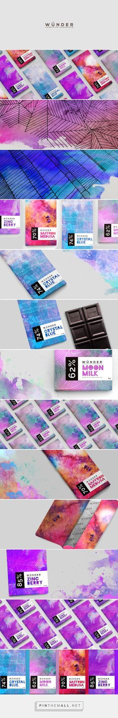 LIKE: Colour Palette - although ours is a more saturated and warm, Love the rich Pink. Not afraid of a bit of pattern.  UNLIKE: Blue, you can't eat blue. Basic Colour psychology.  Chocolate brand Wünder by Jack Thompson