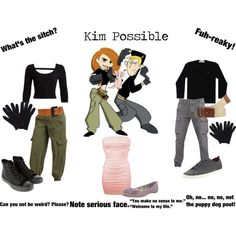 """Kim Possible Feat. Ron Stoppable and Rufus"" by onedirectionginger on Polyvore"