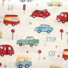 Tissu Vintage Cars