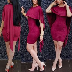 New fashion design 2016 cloak sleeve mini dress sexy women club dress elegant summer dress 9071