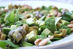 Salade met avocado en granadilla #glutenvrij #lactosevrij #koemelkvrij #kippeneivrij #suikervrij