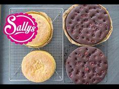 lockerer, saftiger Kuchenteig für Motivtorten und Sahnetorten hell oder dunkel / Cake Basics 23.09.15 - YouTube