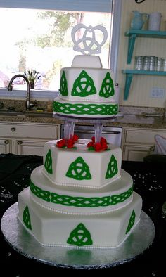 Celtic Wedding Cake by Little Sugar Bake Shop, via Flickr