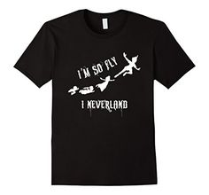 Men's Kids I'm So Fly - I Neverla-nd T-Shirt XL Black KT…
