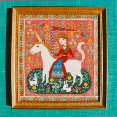 Shop | Category: Embroidery & Cross Stitch | Product: Gera Cross Stitch - The Lady and the Unicorn