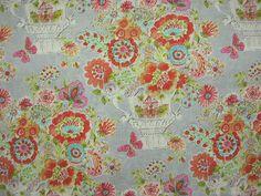 DENA HOME Blissful Bouquet Sherbert Fabric,Waverly Dena Home, Dena Home, Dena Home Fabrics, Waverly Dena Home Fabrics, Blissful Bouquet Sherbert Fabric   BUY NOW:  http://shop.thefabricfinder.com/DENAHOMEBlissfulBouque-Sherbert.aspx