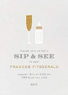 Sip & See Invitation by Paperless Post. Design custom baby shower and Sip and See invitations with easy-to-use design tools and RSVP tracking. View other baby shower invitations on paperlesspost.com