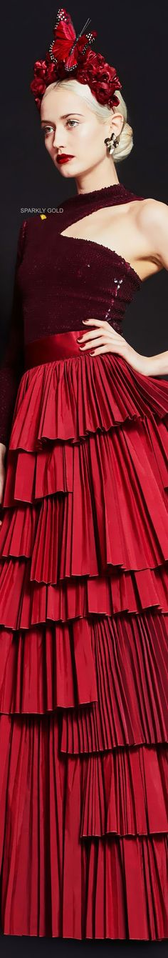 Dark Red Dresses, Azzaro, Cocktail Gowns, Shades Of Red, Brunello Cucinelli, Clothing Company, Alice Olivia, Couture Fashion, Balmain