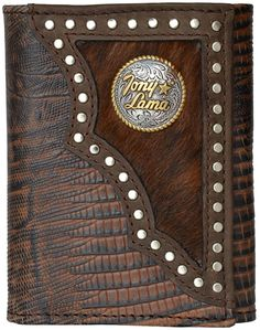 Tony Lama Dark Brown Western Trifold Wallet *** To view further for this item, visit the image link. (This is an Amazon Affiliate link and I receive a commission for the sales)