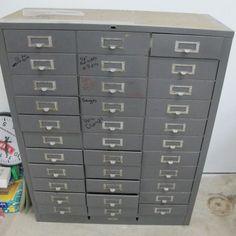 33 drawer metal cabinet