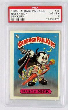 1985 Garbage Pail Kids Original Series 1 Nasty Nick #1a PSA Graded 4 VG/EX GPK