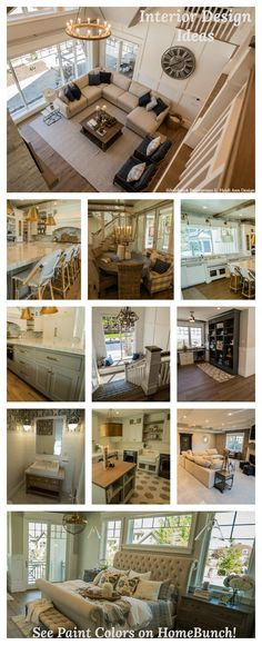 Lake Cottage Inspiration - Home Bunch Interior Design Ideas Farmhouse Architecture, Modern Farmhouse Interiors, Coastal Farmhouse, Luxury Interior Design, Interior Design Services, Grey Kitchen Designs, Cabinet Paint Colors, Kitchen Cabinet Styles, Painting Cabinets