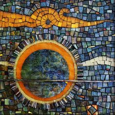 Kelley Knickerbocker, one of our favorite local mosaic artists.