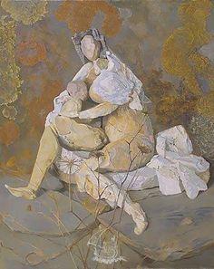 La Maternité de Giorgione  Antoni Pitxot, 1977 Huile sur toile, environ 100 x 81 cm Théâtre-Musée Dalí, Figueres, Espagne