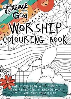 Coloring book for adults or children, tied to biblical stories or verses.