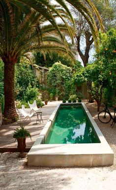 Everybody likes deluxe swimming pool designs, aren't they? Here are some leading checklist of luxury swimming pool image for your motivation. These wonderful swimming pool design ideas will transform your yard right into an outdoor sanctuary. Small Inground Pool, Small Swimming Pools, Luxury Swimming Pools, Small Backyard Pools, Swimming Pools Backyard, Swimming Pool Designs, Small Pools, Outdoor Pool, Backyard Landscaping