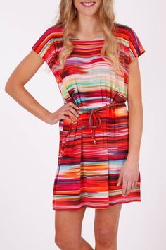 Ellis & Dewey African Sunrise Drape Dress - Womens Short Dresses - Birdsnest Online Fashion
