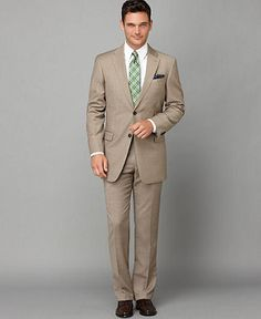 Tommy Hilfiger Suit Separates, Grey Stripe Slim Fit - Mens Suits