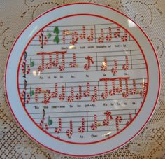 Deck The Hall Plate Ron Gordon Designs Christmas Candy Cane Collectible Decor