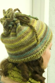 Knit Hat/Cowl - free pattern