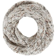 Luisa Brini Women's Lurex Knit Infinity Scarf (2,635 MXN) ❤ liked on Polyvore featuring accessories, scarves, ivory, circle scarves, loop scarf, knit scarves, ivory infinity scarf and tube scarves
