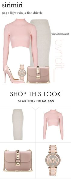 """Untitled #393"" by fashiontaurus on Polyvore featuring River Island, Topshop, Valentino, Michael Kors, Christian Louboutin, women's clothing, women's fashion, women, female and woman"