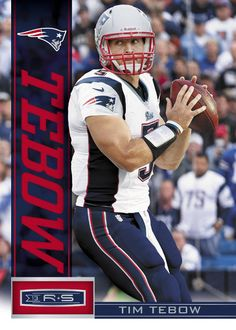 Tim Tebow's first New England Patriots trading card.