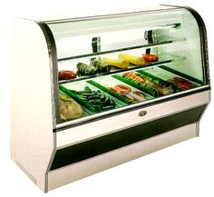HS Series, Remote & Self-Contained, Curved Glass, Double Duty, Meat & Deli Merchandiser     Features @ http://www.marcrefrigeration.com