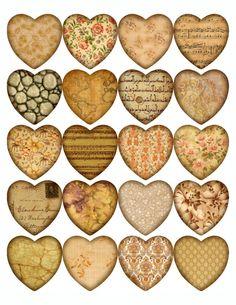 Sheet Stickers hearts