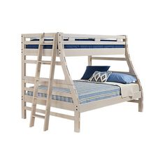 Creekside Stone Wash Twin Full Bunk Bed (€540) ❤ liked on Polyvore featuring home, children's room and children's furniture