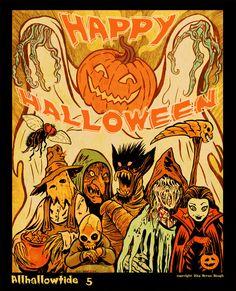 Vintage Halloween von melisa - Spooky for the win - Halloween Artwork, Halloween Quotes, Halloween Wallpaper, Halloween Horror, Halloween Drawings, Halloween Stuff, Creepy Drawings, Halloween Labels, Haunted Halloween