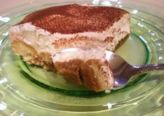 think you can't make tiramisu at home? this recipe is super easy and uses no raw eggs. Great Recipes, Favorite Recipes, Tiramisu Recipe, Super Easy, Bakery, Good Food, Eggs, Sweets, Chocolate