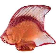Pre-owned Lalique Crystal Fish Figurine ($75) ❤ liked on Polyvore featuring home, home decor, green, lalique figurines, green home decor, fish home decor, lalique and crystal glass figurines