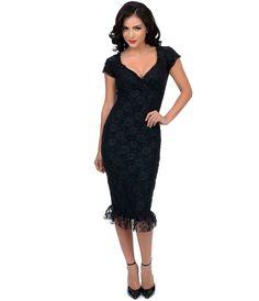 Black Lace Annabella Wiggle Dress