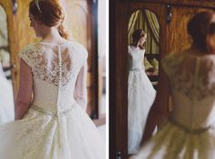 This breathtaking dress by Ronald Joyce is perfect for the elegant bride. Image © Chris Scuffins. #wedding #weddingdresses #cotswoldwedding #bridal