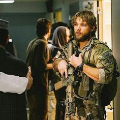 Military Shows, Military Men, Max Thieriot, Movies To Watch Free, Men In Uniform, Navy Seals, Special Forces, Man Crush, Bearded Men