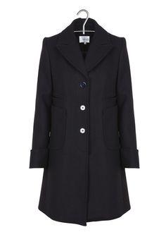 8b4ff14e27a16 SOLDES sur 350 Marques mode et tendances   Place des tendances. Manteau  long en drap de laine Bleu ...