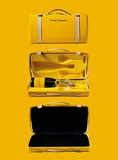 Traveling case designed by Louis Vuitton for Veuve Clicquot