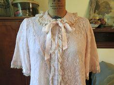 Vintage Odette Barsa Feminine All Lace Robe by dandelionvintage