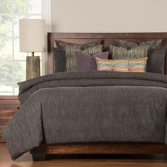 Siscovers Steele Grey Luxury 6-piece Duvet Cover Set | Overstock.com Shopping - The Best Deals on Comforter Sets