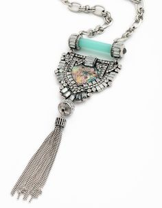 Christmas gift Women's fashion anti silver long tassel fringe geometric colored necklace pendants for woemn Fast Fashion, Fashion 2017, Coral Lace Dresses, Fringe Necklace, Pendant Necklace, Christmas Gifts For Women, Beautiful Gifts, Stone Jewelry, Silver Jewelry