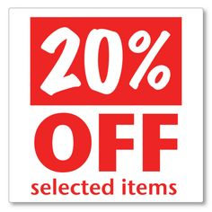 Enjoy 20% Off on our selected Items! Hurry Up